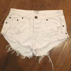 ONE X ONETEASPOON white denim shorts